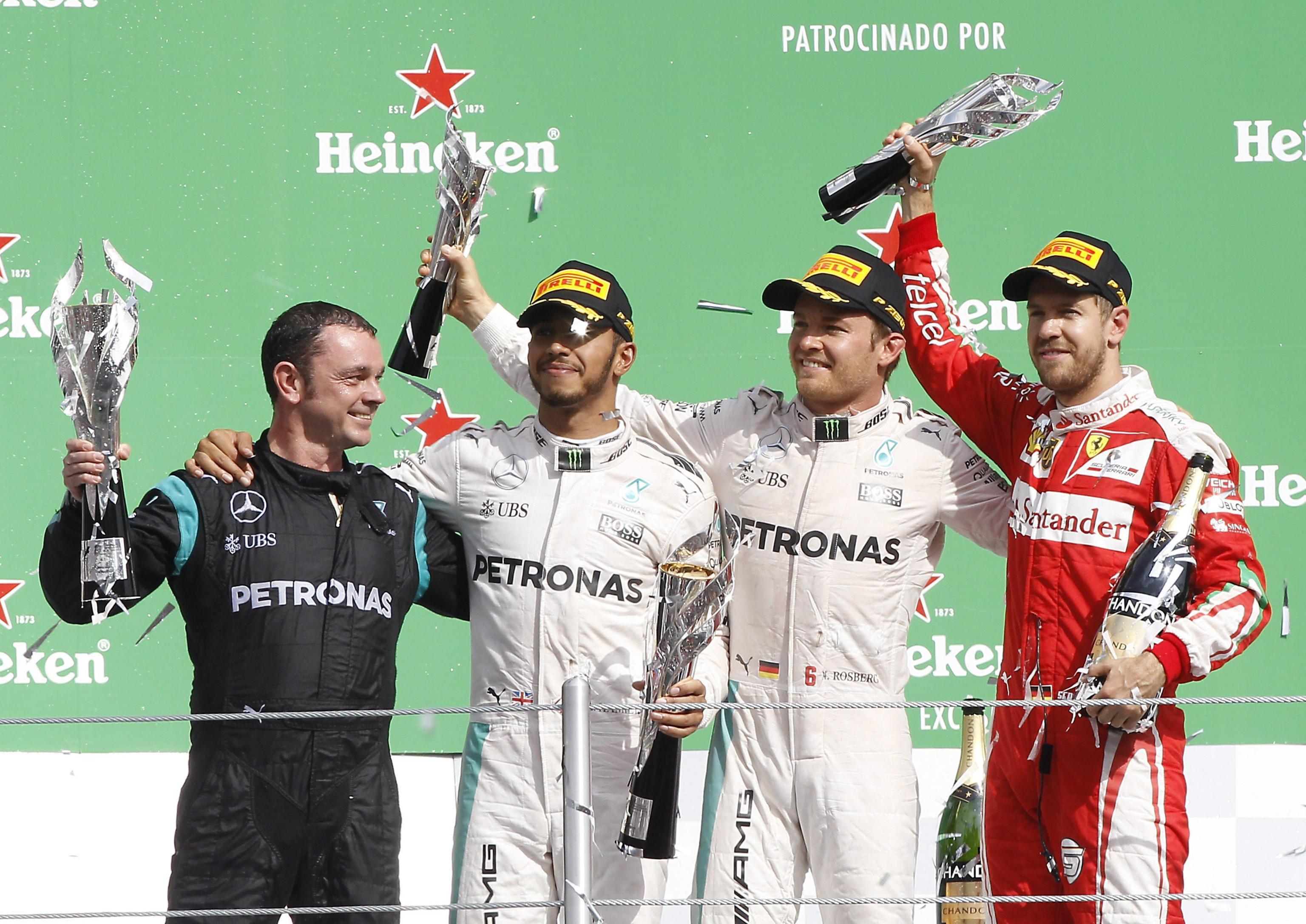 Il podio del Gran Premio del Messico 2016 (foto da: blitzquotidiano.it)
