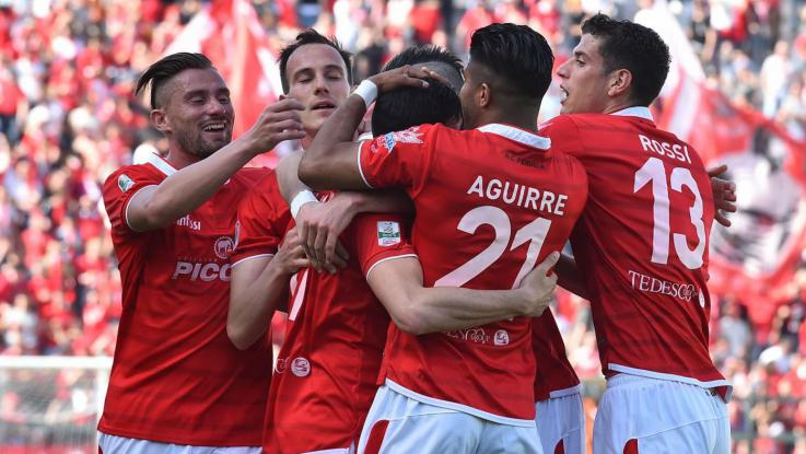 Il Perugie festeggia il 3-0 sull'Avellino - Fonte: LaPresse