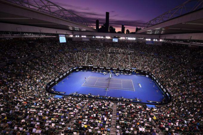 Andy Murray (GBR) Novak Djokovic (SRB) Ilustration  Melbourne 31/1/2016 Tennis Australian Open  Finale Uomini  Foto Virginie Bouyer / Panoramic / Insidefoto ITALY ONLY