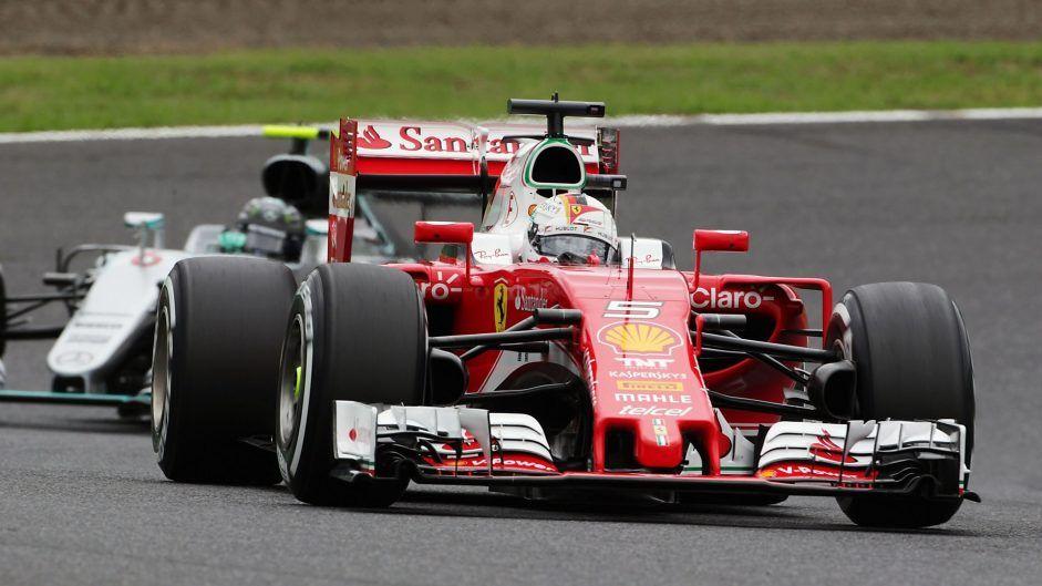 Sebastian Vettel punta, con Kimi Raikkonen, a riportare la Ferrari sul podio, colto solo una volta nelle ultime 8 gare (foto da: f1fanatic.co.uk)