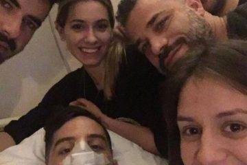 Kostas Manolas dopo l'intervento al setto nasale