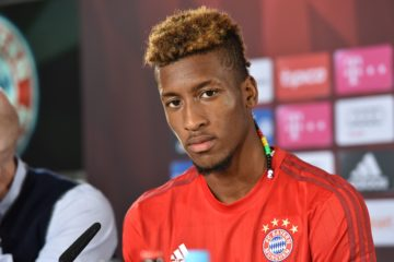 MUNICH, GERMANY - SEPTEMBER 10:  Kingsley Coman during the 'FC Bayern Muenchen Unveils New Signing Kingsley Coman' at press center of FC Bayern on September 10, 2015 in Munich, Germany.  (Photo by Hannes Magerstaedt/Bongarts/Getty Images)