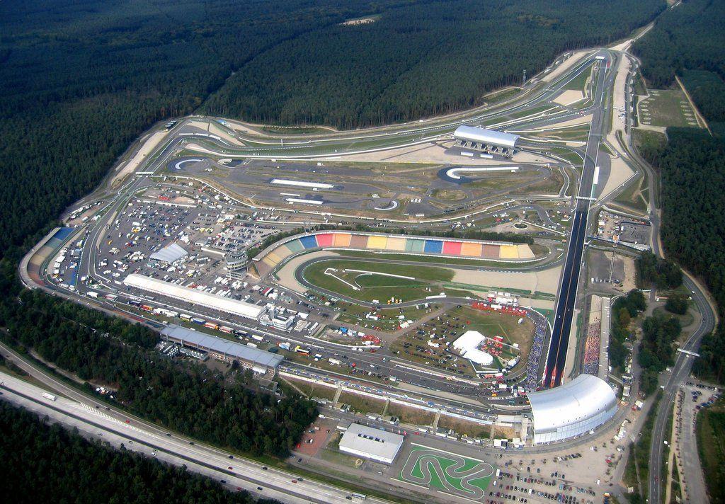 Vista dall'alto del circuito di Hockenheim, che potrebbe ospitare il GP di Germania anche l'anno prossimo, al posto del Nurburgring (foto da: diablomotor.com)