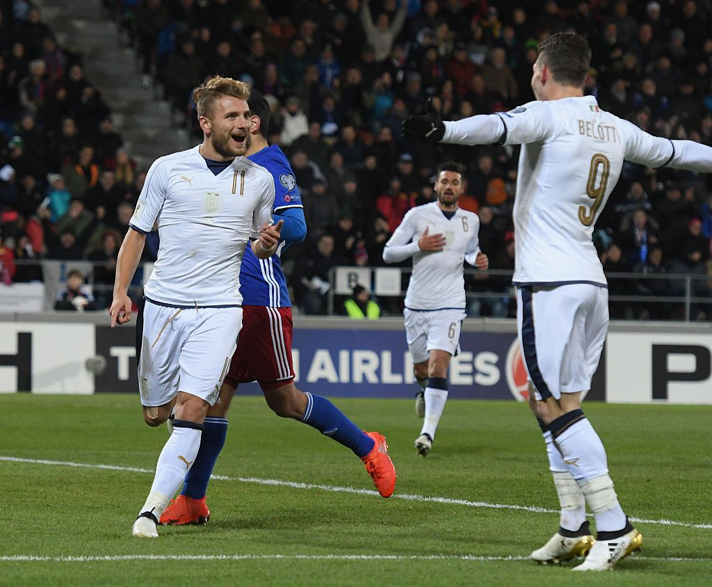 during the FIFA 2018 World Cup Qualifier between Liechtenstein and Italy at  on November 12, 2016 in Vaduz, .