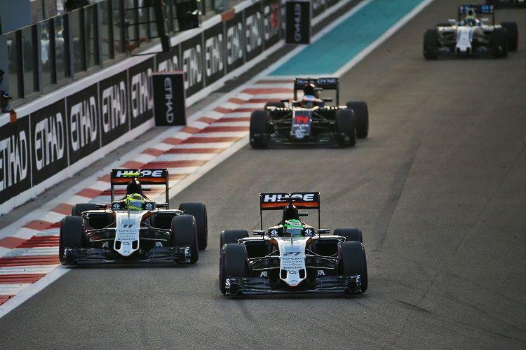 Con il doppio arrivo a punti di ieri, la Force India ha blindato il 4° posto nei Costruttori (foto da: thecheckeredflag.co.uk)