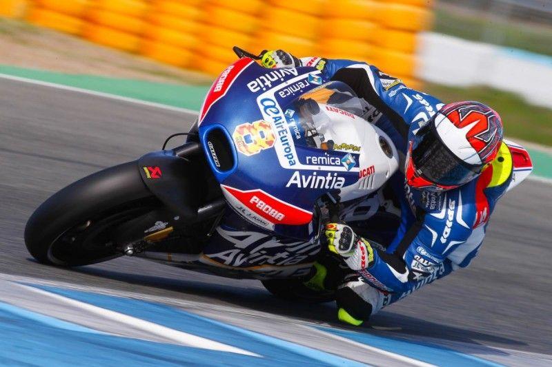 Hector Barbera, durante la giornata di oggi a Jerez, test privati (foto da: motogp-news.ru)