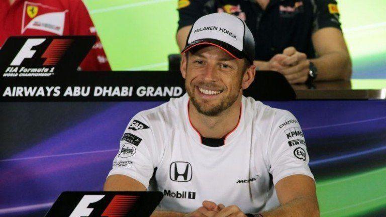 Jenson Button in quella che, presumibilmente, sarà stata la sua ultima conferenza stampa del giovedì (foto da: gol.dnevnik.hr)