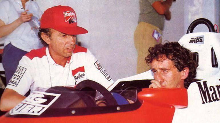Jo Ramirez con Alain Prost, anni '80 in McLaren (foto da: cadenaser.com)