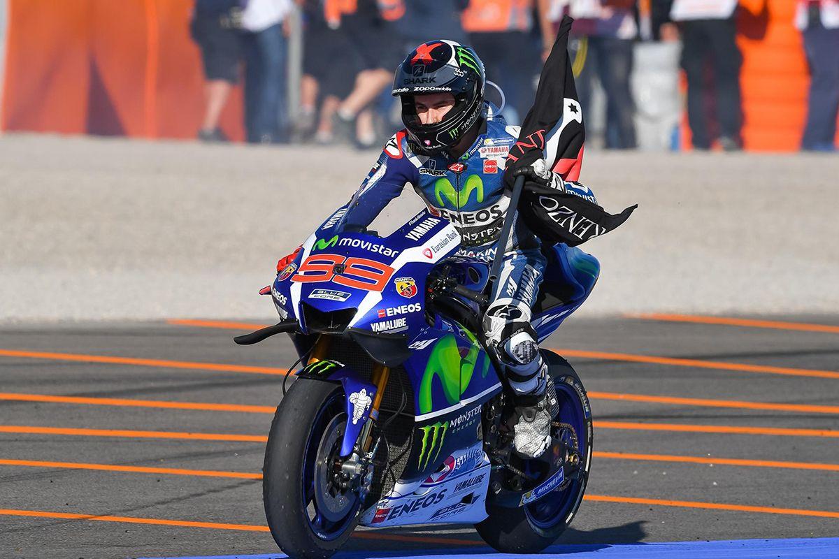 Lorenzo vince a Valencia, nella sua ultima gara con la Yamaha (foto da: moto7.net)