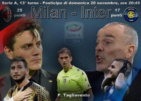 Serie A, alla 13ma c'e' Milan-Inter (elaborazione)