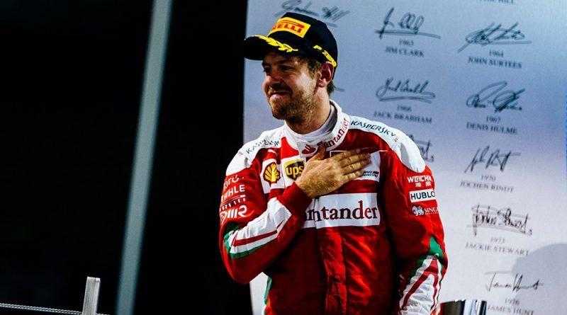 Sebastian Vettel, 3° nella gara conclusiva del 2016 negli Emirati (foto da: f1sport.it)