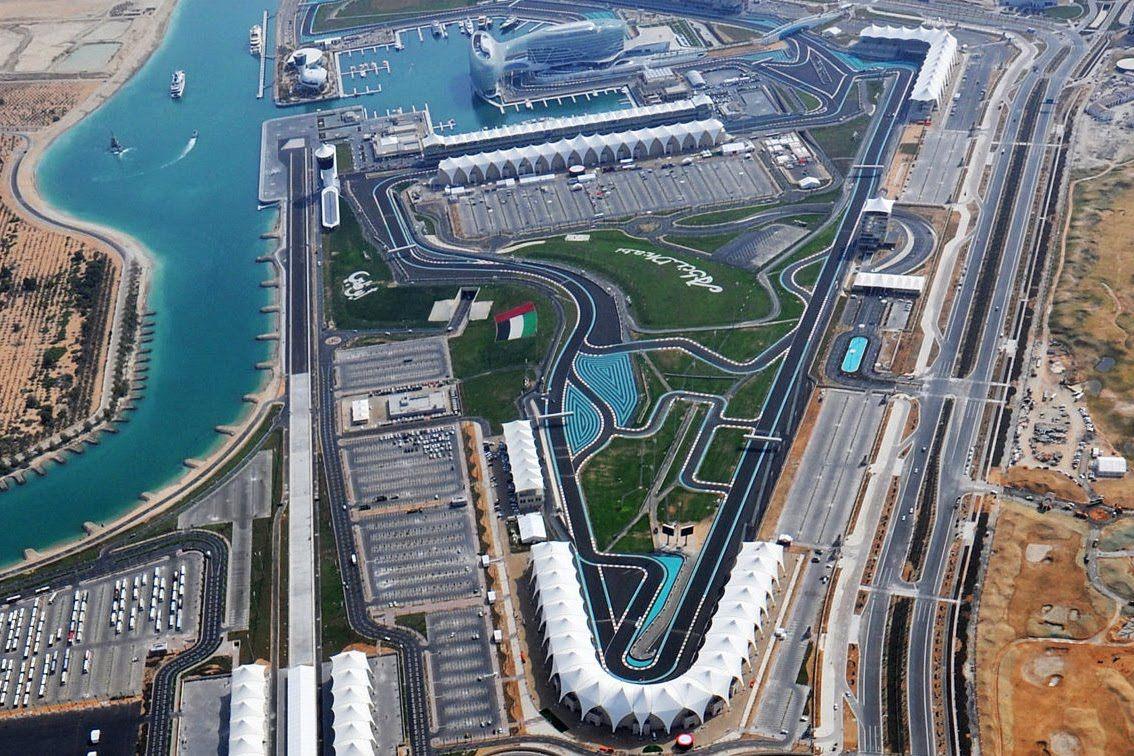 Immagine suggestiva dall'alto del circuito di Yas Marina (foto da: mirrent.ru)