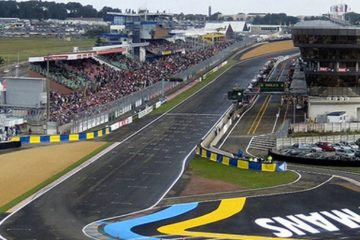 La zona del traguardo del circuito di Le Mans, che nel weekend ospiterà il Motomondiale (foto da: twitter.com)