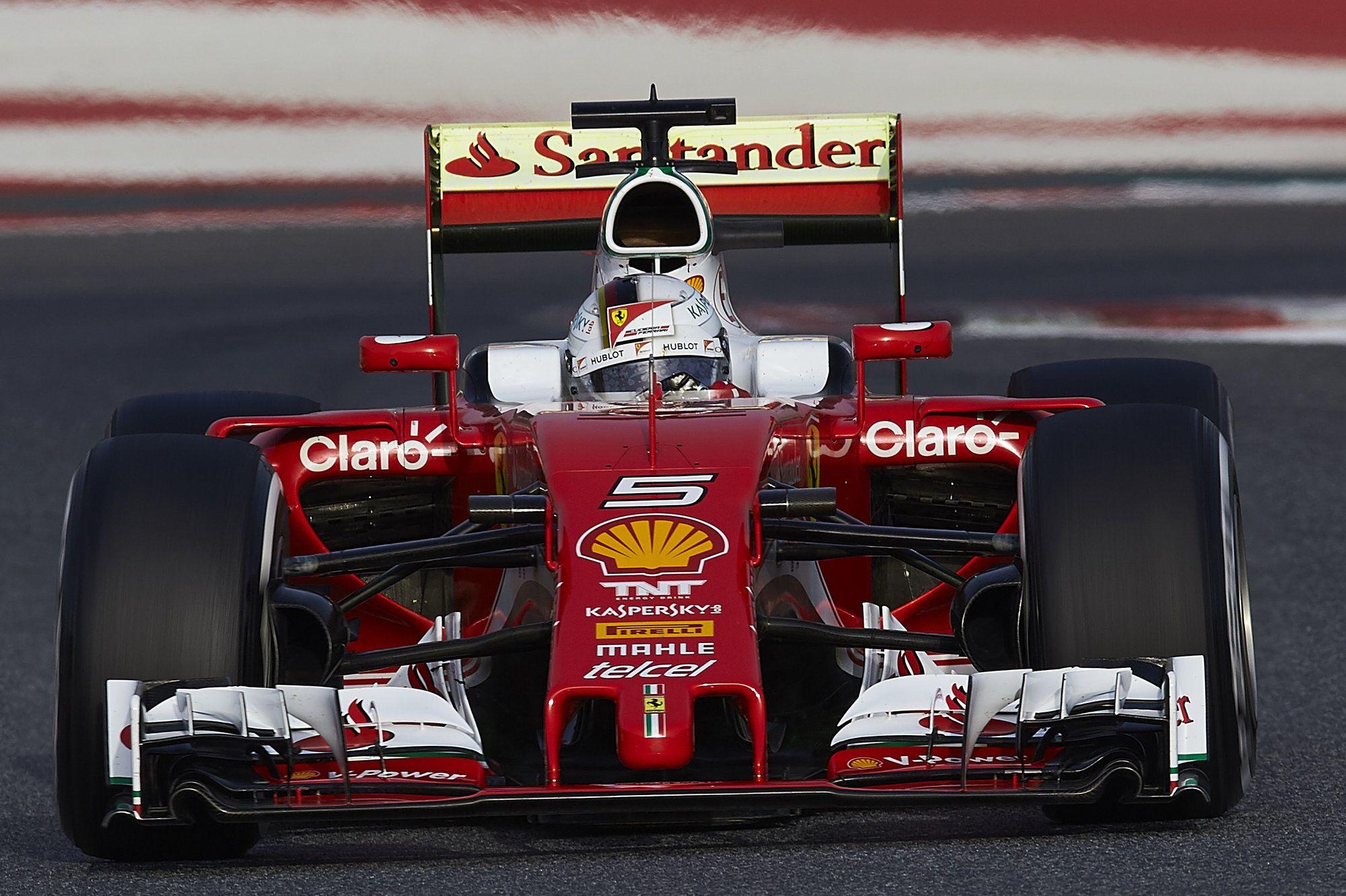 Sebastian Vettel, al volante della SF16-H (foto da: redding.com)