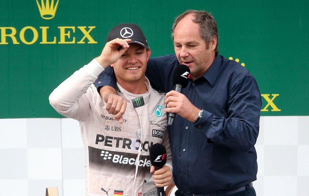 Gerhard Berger e Nico Rosberg (foto da: heute.at)