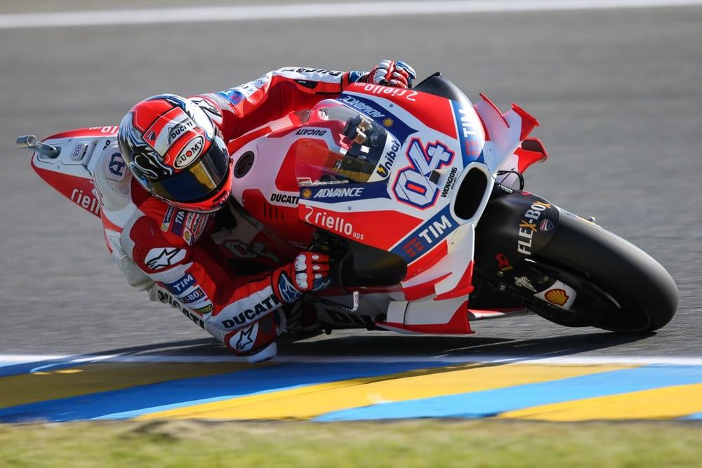 La Ducati di Dovizioso a Le Mans, con le alette, vietate per la stagione 2017 (foto da: newatlas.com)