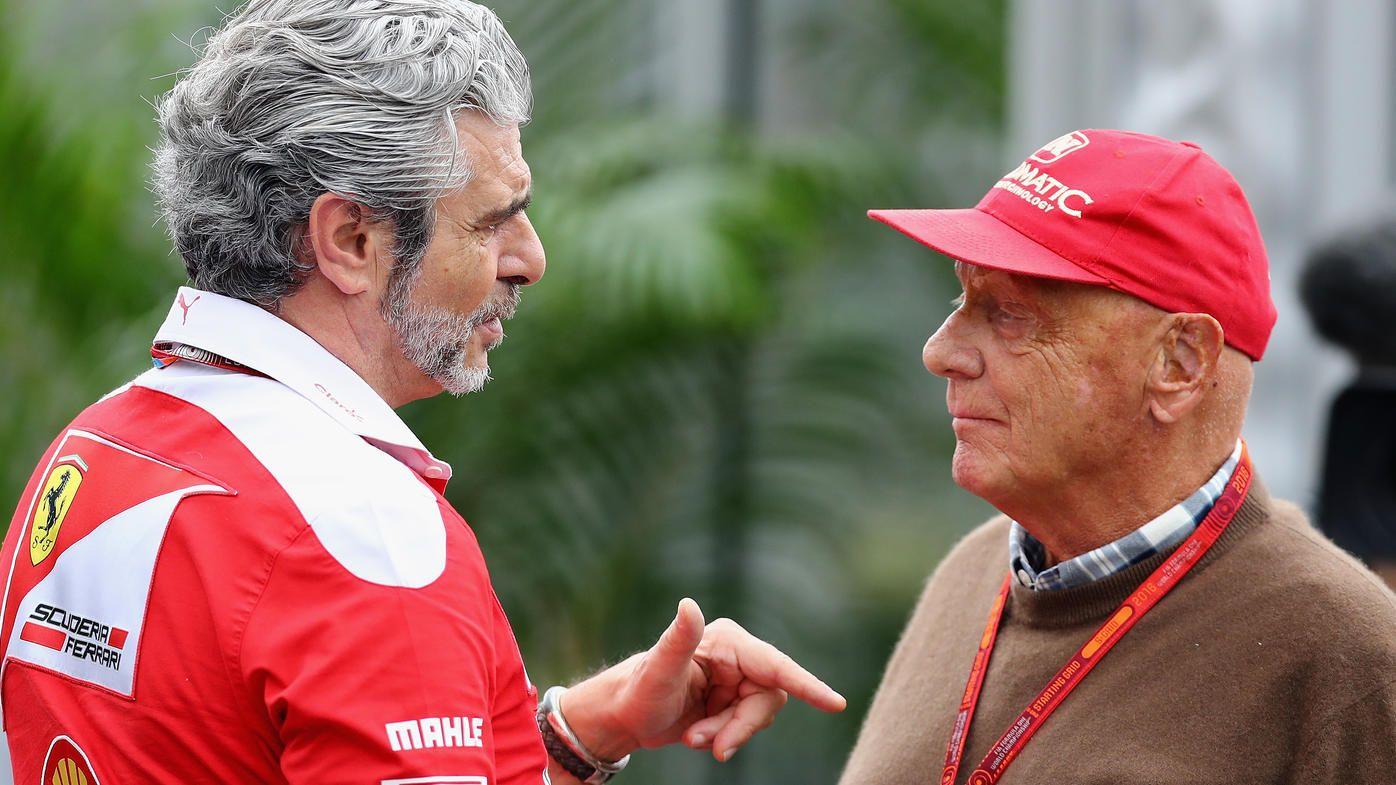 Maurizio Arrivabene e Niki Lauda, durante il weekend di Suzuka (foto da: rtl.de/Clive Mason/Getty Images)