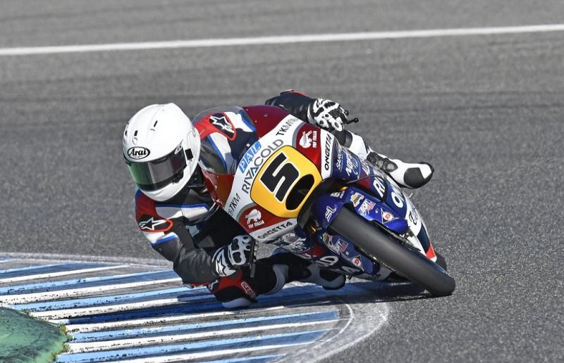 Romano Fenati, durante i test di Jerez con la Honda del team Ongetta Rivacold (foto da: picenotime.it)