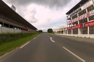 Immagine attuale della zona del traguardo del vecchio circuito di Reims (foto da: youtube.com)