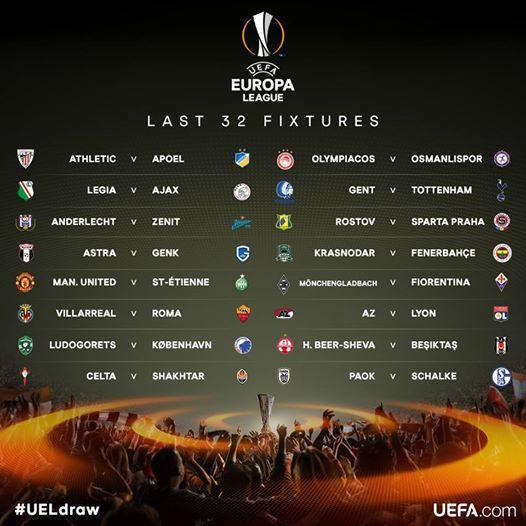 Roma Calendario Europa League.Risultati Sorteggio Sedicesimi Europa League Villarreal