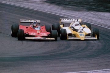 Villeneuve di fianco ad Arnoux, nel mitico duello del Gran Premio di Francia 1979 (foto da: motorsportretro.com)