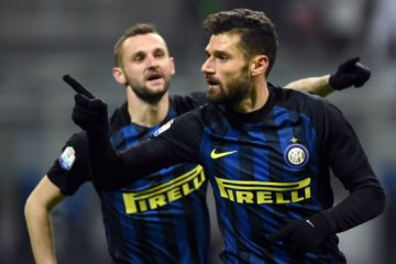 during the TIM Cup match between FC Internazionale and Bologna FC at Stadio Giuseppe Meazza on January 17, 2017 in Milan, Italy.