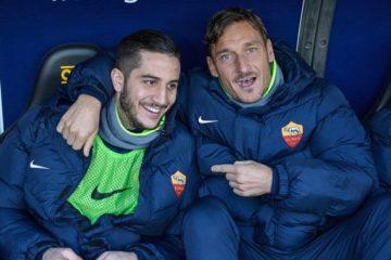 Kostas Manolas e Francesco Totti