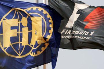 Le bandiere della Federazione Internazionale e della Formula 1 (foto da: serhanacar.com)