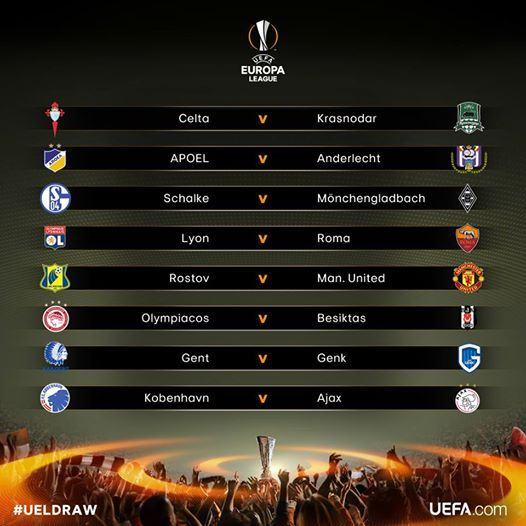 Calendario Europa League Ottavi.Risultati Sorteggio Ottavi Europa League Lione Avversario