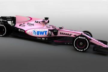 La nuova livrea della Force India VJM10 (foto da: carvaganza.com)