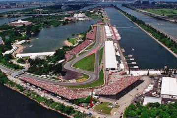 Vista aerea del circuito Gilles Villeneuve di Montreal (foto da: quiencorrehoy.com)