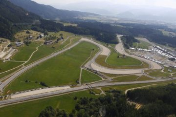 Vista dall'alto del Red Bull Ring, dalla quale si nota anche gran parte del layout (foto da: f1madness.co.za)