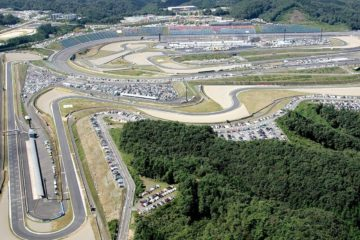 Vista dall'alto del Twin Ring di Motegi, che ospiterà il Gran Premio del Giappone del Motomondiale almeno fino al 2023 (foto da: motorcycleroadracingforums.com)