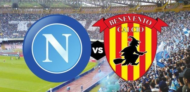 Napoli-Benevento, 24° giornata Serie A.