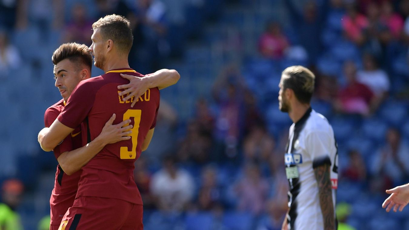 Roma-Udinese dzeko el shaarawy