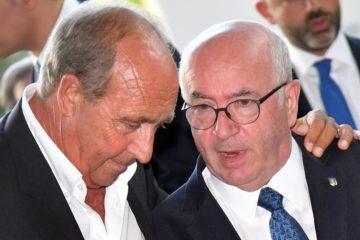 Gian Piero Ventura e Carlo Tavecchio, considerati i principali responsabili del disastro play-off.