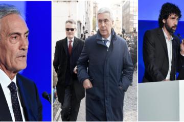 I tre candidati in FIGC, Gravina, Sibilla e Tommasi