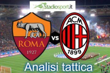 Roma-Milan, analisi tattica della partita di 26° giornata di Serie a