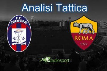 Analisi Tattica Crotone-Roma, 29° giornata di Serie A