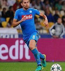 Jorginho, centrocampista centrale del Napoli. Fonte. Wikipedia