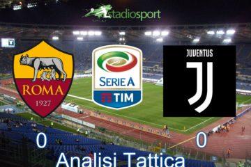 Roma-Juventus, analisi tattica della partita valida per la 37° giornata di Serie A