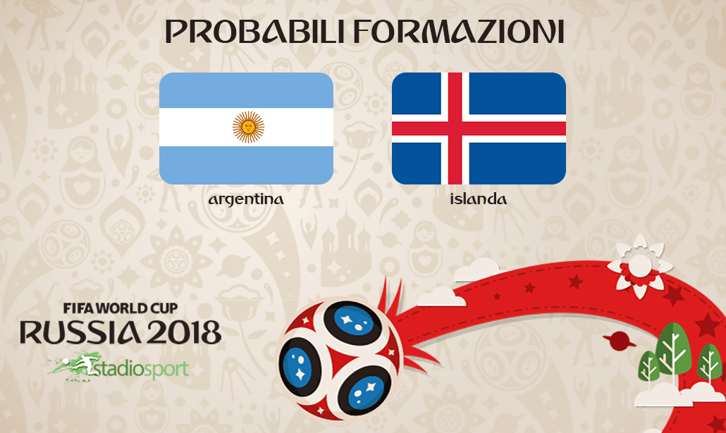 argentina islanda probabili formazioni mondiali
