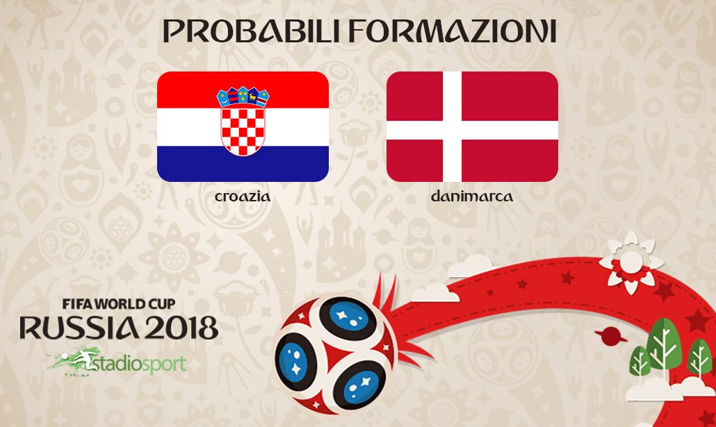 croazia danimarca probabili formazioni mondiali