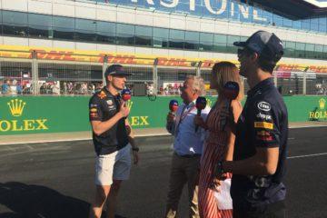 Verstappen e Ricciardo intervistati prima del weekend. Fonte: Twitter Silverstone