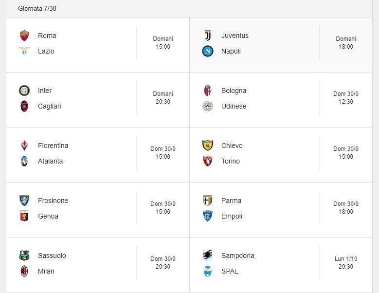 Probabili Formazioni 7 Giornata Serie A 29 30 9 E 1 10 2018 Stadiosport It