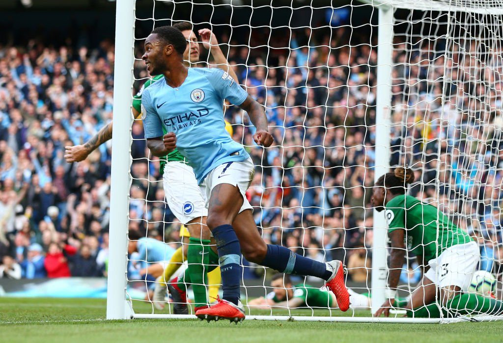 Manchester City Brighton-2-0-sterling