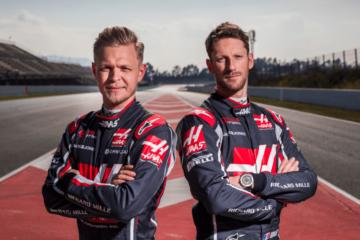 Kevin Magnussen e Romain Grosjean sono stati confermati dalla Haas anche per il 2019 (foto da: twitter.com/HaasF1Team)