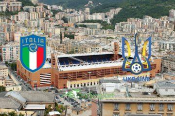 Italia-Ucraina, amichevole internazionale allo stadio Marassi di Genova.