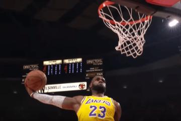 Non basta LeBron James ad assicurare la vittoria al debutto stagionale ai Lakers, ko sul parquet di Portland (foto da: youtube.com)
