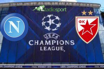 Napoli-Stella Rossa, 5°giornata di Champions League.